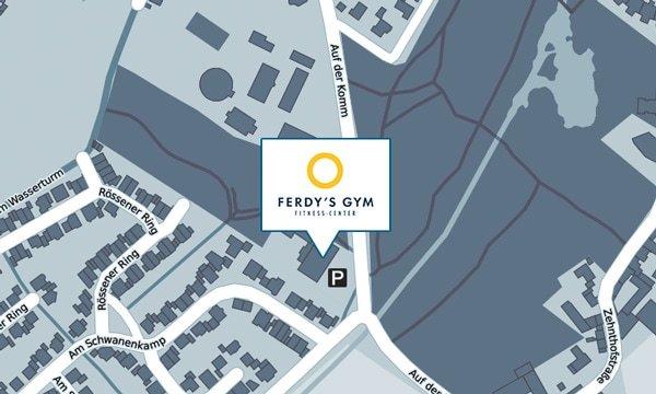 Openstreetmap-Karte Lage Fitness-Studio