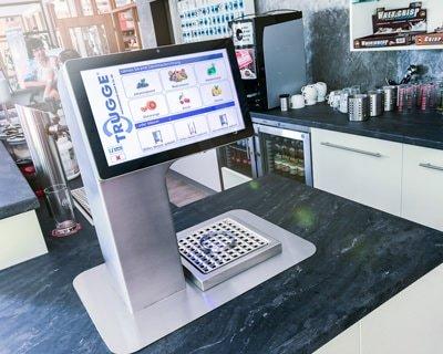Getränkeautomat für Getränke während des Trainings